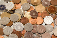 Small change. A lot of small change (romanian coins Royalty Free Stock Photography