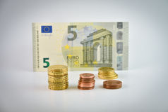 Small change euro money Royalty Free Stock Image