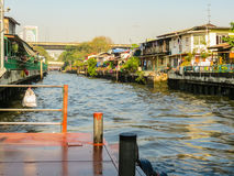 Small channel called khlong. Bangkok, Thailand Stock Images