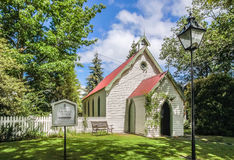 Small chapel in Arrowtown Stock Images
