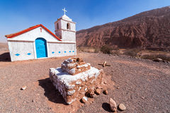 Small Chapel in Atacama Desert Stock Image
