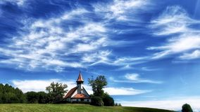 A small chapel and blue sky royalty free stock images