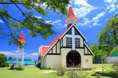Small Chapel, Cap Malheureux, Mauritius Stock Photos