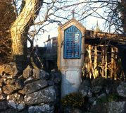 Small chapel. Small characteristic chapel in the Istrian village Royalty Free Stock Photo