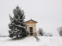 Small chapel in the countryside Royalty Free Stock Images