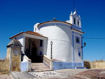 A small chapel in Elvas, Portugal. A small whitewashed round chapel in Elvas, Portugal Royalty Free Stock Image