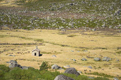 A small chapel in the Estrela Mountain, Portugal Stock Photo