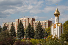 Small chapel in front of Parliament in Tirapol, Transnistria Royalty Free Stock Image