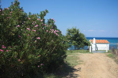 Small chapel in Greece Stock Photo