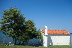 Small chapel in Greece. Whitewashed small chapel in Samothrace, Greece, Europe Stock Photography