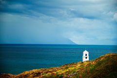Small chapel in Greece. Small chapel in Greek coast Stock Images