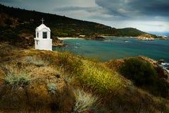 Small chapel in Greece. Small chapel in Greek coast Stock Image