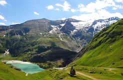 Small chapel in high meadows of Tyrolean Alps. royalty free stock photo