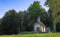 Small chapel on the hill in Berchtesgaden Bavarian national park Stock Images
