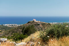 A small chapel on a hill at Sisi,Crete Stock Photography