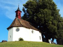 Small chapel on the hill. In St. Gallen stock photo