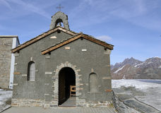 Small chapel at Matterhorn Stock Photo