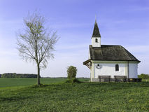Small Chapel in Meadow Royalty Free Stock Image