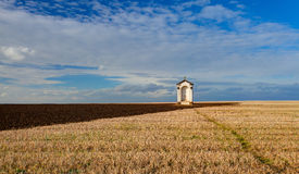 A small chapel in the middle of fields Stock Photo