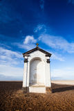 A small chapel in the middle of fields Stock Photography