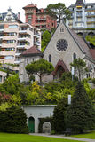 Small Chapel in Montreux, Switzerland Stock Image