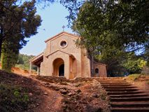 Small Chapel in Montserrat Mountain, Spain Royalty Free Stock Photo