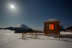 A small chapel in the mountains Stock Image