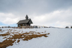 Small chapel at the mountains Royalty Free Stock Photography