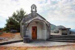 Small chapel near Omis Stock Photo