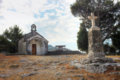 Small chapel near Omis Stock Image
