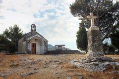 Small chapel near Omis Stock Image