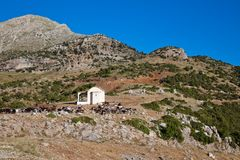 Small chapel nearby Stymfalia Stock Photo