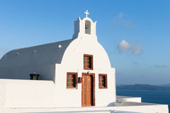 Small chapel in Oia Stock Photos