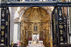 Small Chapel Old Basilica Guadalupe Mexico City Mexico. Small Chapel Altar Old Basilica Shrine of Guadalupe Mexico City Mexico. Also known as Templo Expiatorio a Royalty Free Stock Photography