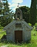 Small chapel on orthodox graveyard in Dalmatia. Small chapel on orthodox graveyard, in Dalmatia Stock Images