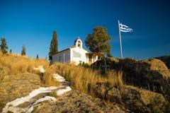 Small chapel in Poros, Greece Stock Image