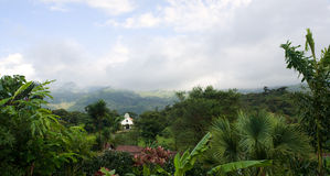 Small Chapel in Remote Cloud Forest Stock Images