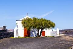 Small chapel in rural area of La Geria on Lanzarote Stock Photography