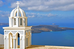 Small chapel on santorini island, greece Stock Images