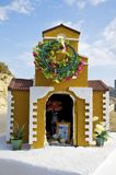 Small chapel at the street on Crete Royalty Free Stock Photography