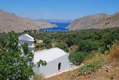 Small chapel, Symi island Royalty Free Stock Photos
