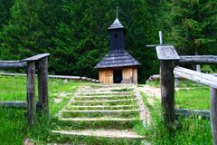 Small chapel in Tatra mountains Royalty Free Stock Images