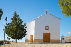 Small chapel. In traditional whitewashed Mediterranean architecture Royalty Free Stock Photo