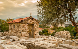 Small Chapel. View of the small chapel in Athens Royalty Free Stock Image