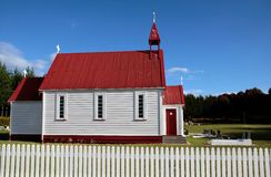 Small chapel in Waitetoko Royalty Free Stock Images