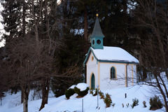 Small chapel in winter Royalty Free Stock Photography