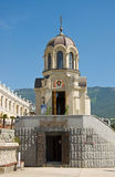 Small chapel in Yalta, Crimea. Chapel in Honor of New Martyrs and Confessors of Russian Church in Yalta, Crimea Stock Photo