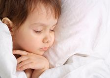 A small charming baby sleeps Royalty Free Stock Photo