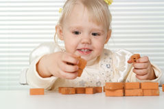 A small charming Caucasian baby Stock Photo