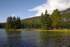 Small charming island on  the Canadian lake Royalty Free Stock Photo